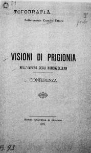 E. Casadei, Visioni di prigionia nell'impero degli Hohenzollern, conferenza pubblicata presso Società