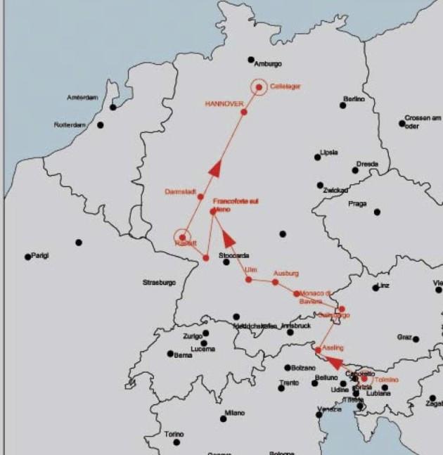 Il percorso di Giuseppe Denti verso Cellelager