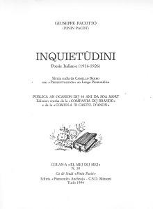 Giuseppe Pacotto. Inquietudini (poesie)