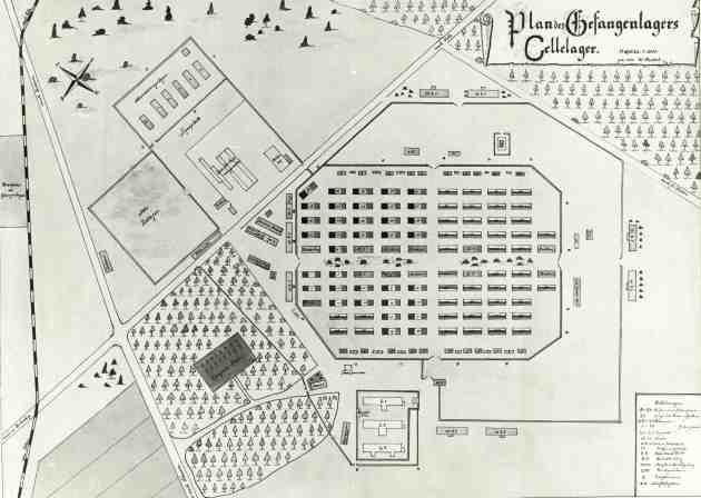 Mappa del Lager di Celle