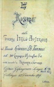 Giovanni De Tommasi - Ricordi della Guerra Italo-Austriaca