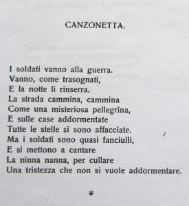 Ugo Betti, Canzonetta da Il re pensieroso (I strofa)