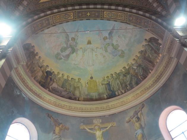 Abside del santuario di Valle di Colorina (SO) - Nicola Arduino, La celebrazione della messa in un campo di prigionieri (1933)